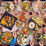 alimentação saudável sobre a mesa