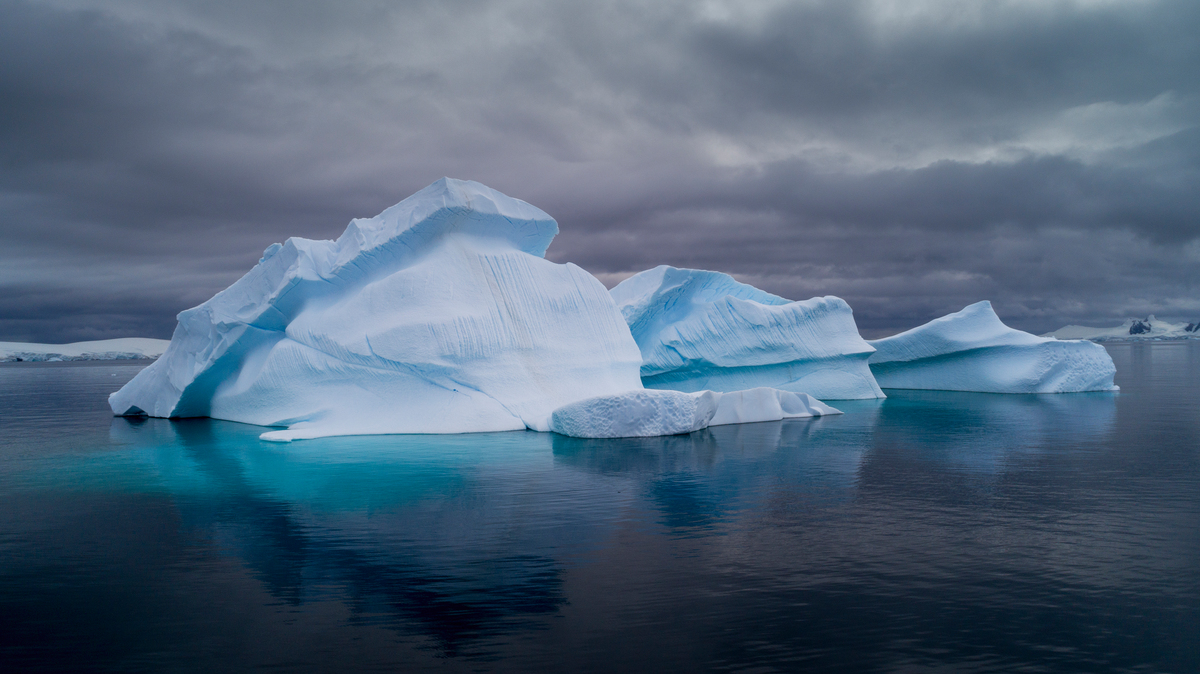 Icebergs in Charlotte Bay in the Antarctic. © Christian Åslund