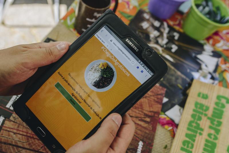 Plataforma online Chega De Agrotóxicos