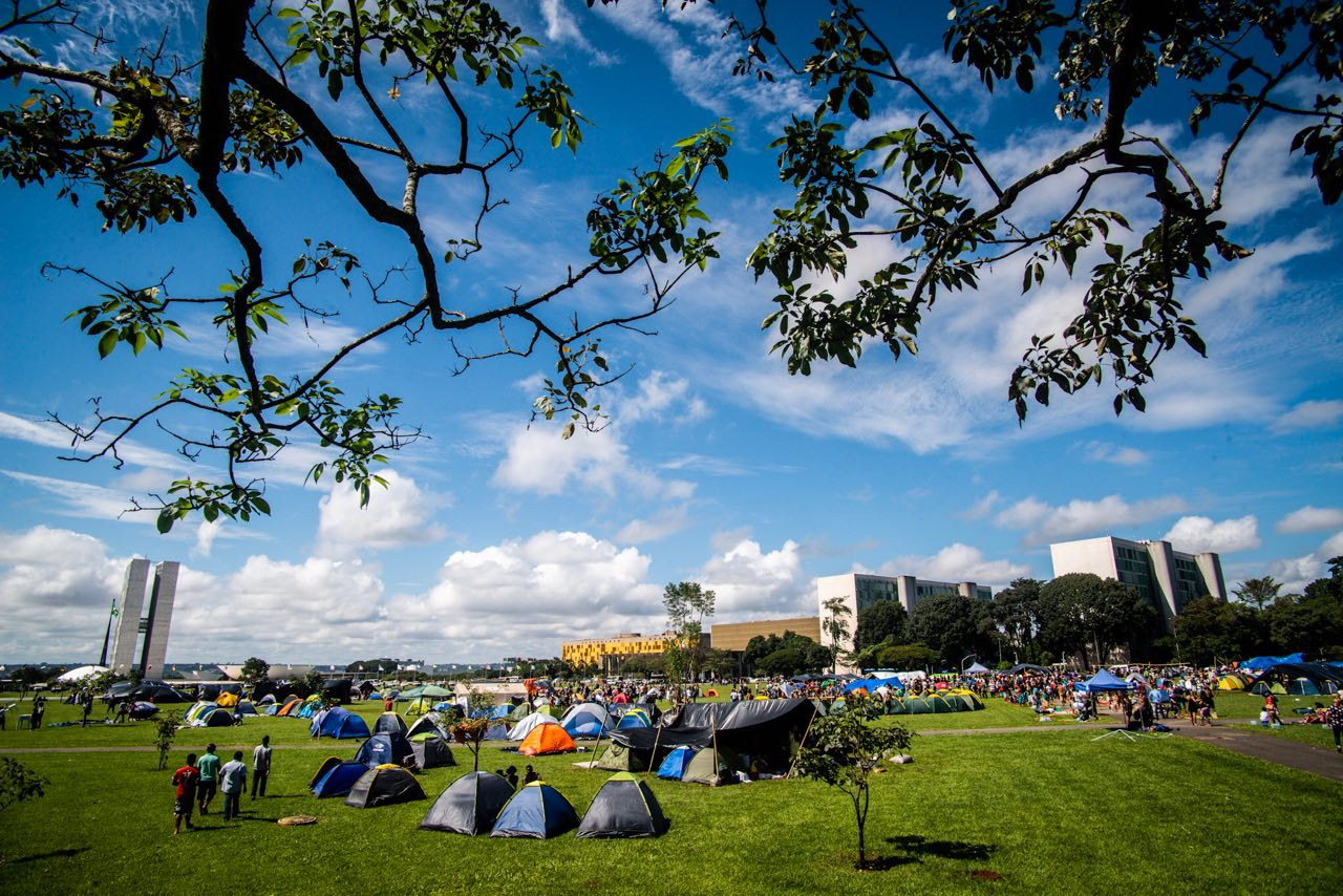 Primeiro dia do Acampamento Terra Livre 2019, em Brasília