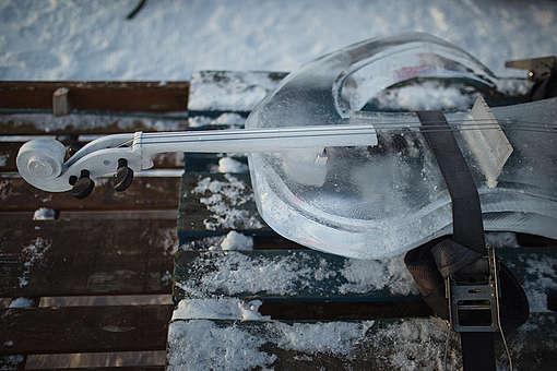 violoncelo de gelo