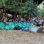 Voluntários de Manaus realizam ação de limpeza no Igarapé do Mindu