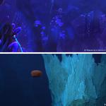 Foto comparativa entre os ambientes de World of Warcraft e a Cidade Perdida