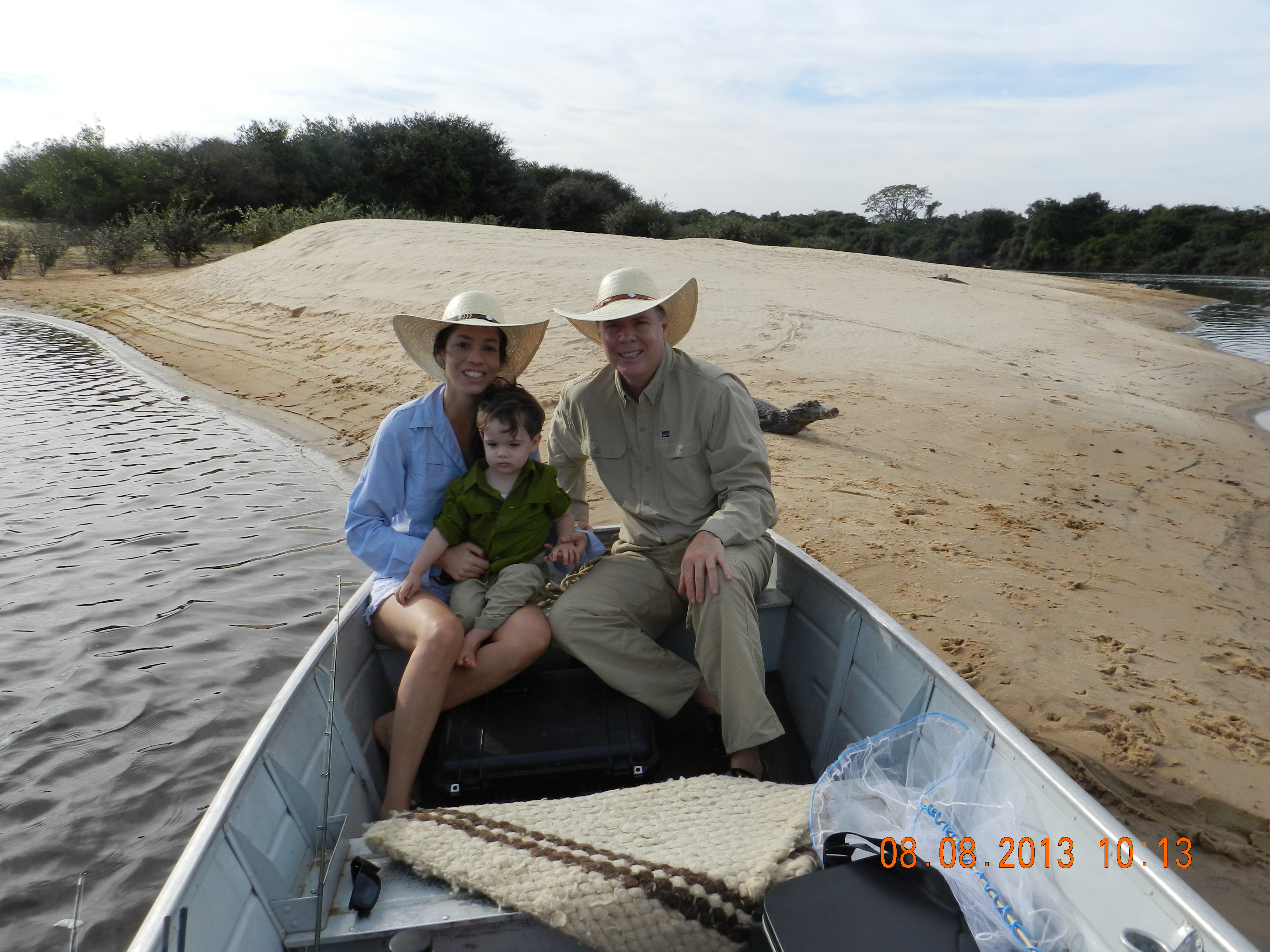 Sarah, Enrico e Christian no Pantanal - 2013