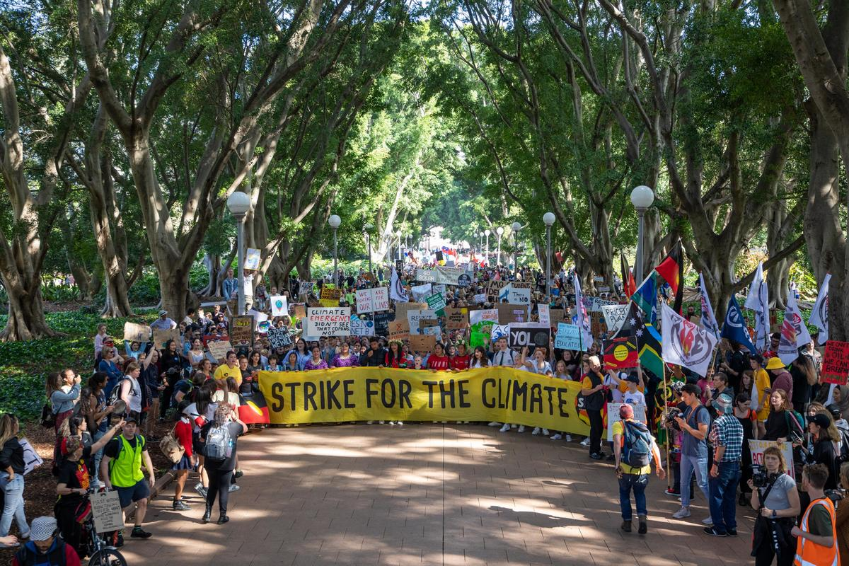 The Sydney Climate Strikes march. © Marcus Coblyn / Greenpeace