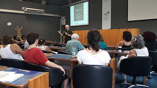 Encontro Educação e Clima, realizado no Instituto de Estudos Avançados da USP, em São Paulo
