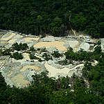 vista aérea de garimpo na Flona Itaituba I