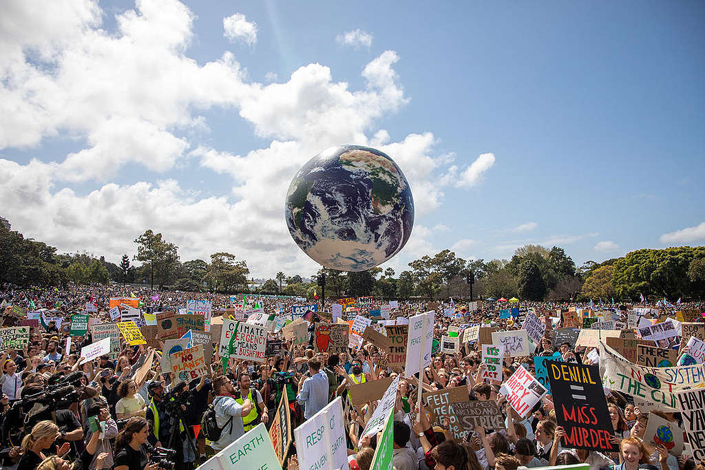 Global Climate Strike in Sydney. © Marcus Coblyn / Greenpeace