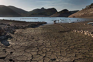 Barrios de Luna Reservoir in Spain. © Pedro Armestre / Greenpeace