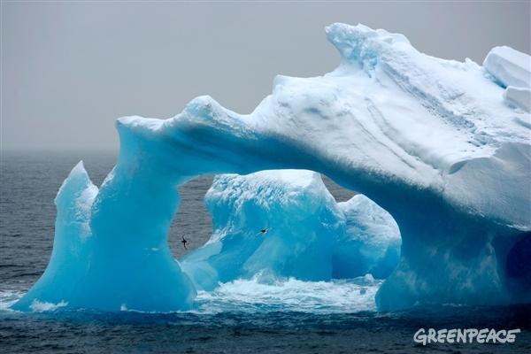 Weathered Iceberg in the Antarctic Ocean, 2008
