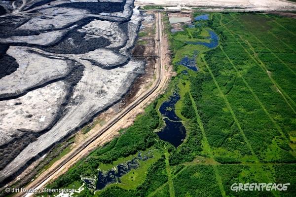 Tar sands pollution in Alberta