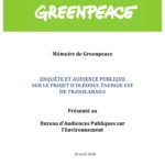 Mémoire Enquête et audience publique sur le projet d'oléoduc Énergie Est de Transcanada