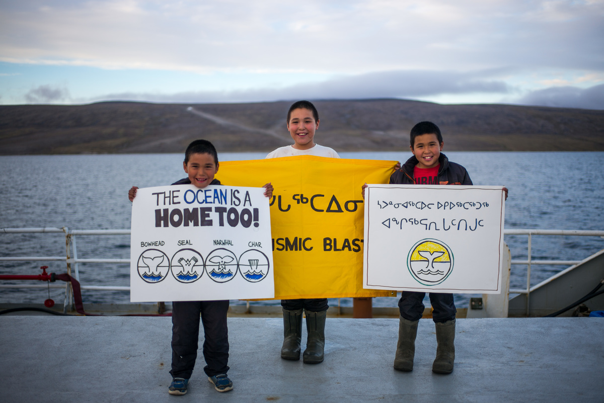 Clyde River Residents on Arctic Sunrise
