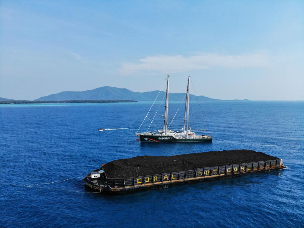 'Coral Not Coal' Direct Action at Karimunjava Archipelago in Java Sea