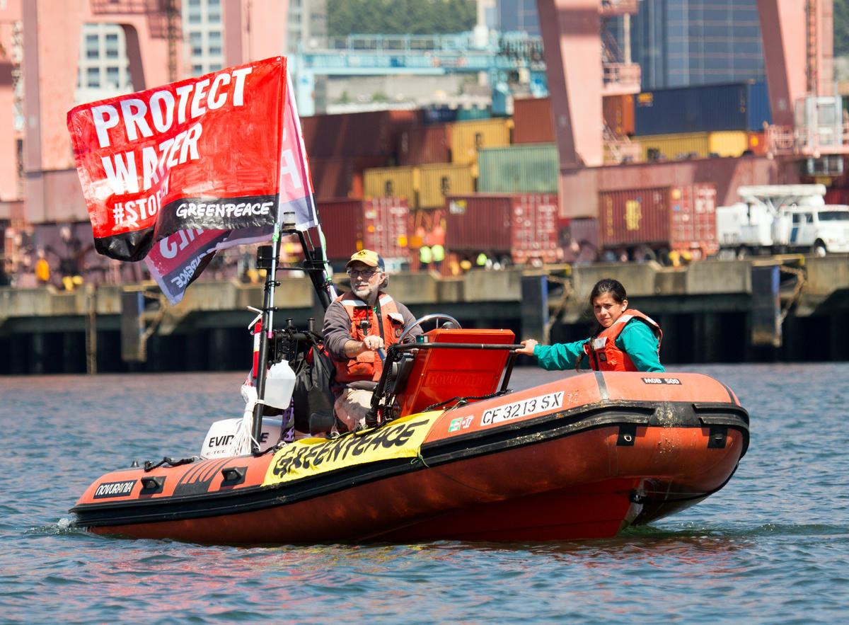 Activists Block a Kinder Morgan Facility in Seattle