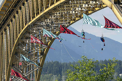 Bridge Blockade in Vancouver