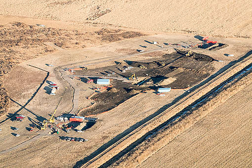Keystone Pipeline Leak in South Dakota. © Naomi Harris
