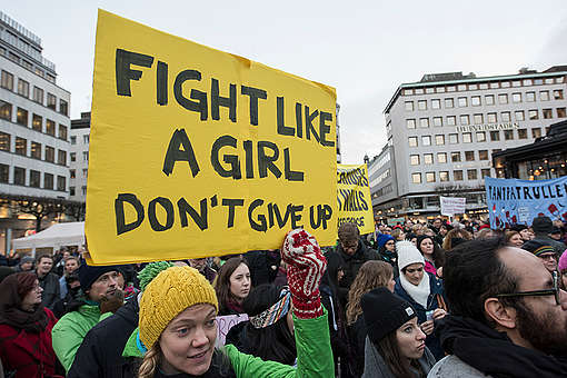 Women's March in Stockholm. © Christian Åslund