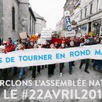 AVIS AUX MÉDIAS: Encerclement de l'Assemblée nationale pour le Jour de la Terre 2019 « Arrêtons de tourner en rond »