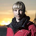Christy Ferguson on Arctic Sunrise in Barents Sea. © Will Rose / Greenpeace