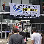 Greenpeace protest disrupts meeting of CEOs linked to deforestation and climate change