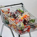 Fruit and Vegetables Plastic Packaging. © Steve Morgan / Greenpeace