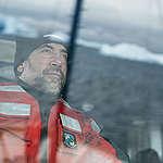 Javier Bardem on the Arctic Sunrise in the Antarctic. © Christian Åslund / Greenpeace