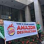 Message de Greenpeace aux propriétaires de Burger King:  Ne faites pas brûler les flammes dans l'Amazone