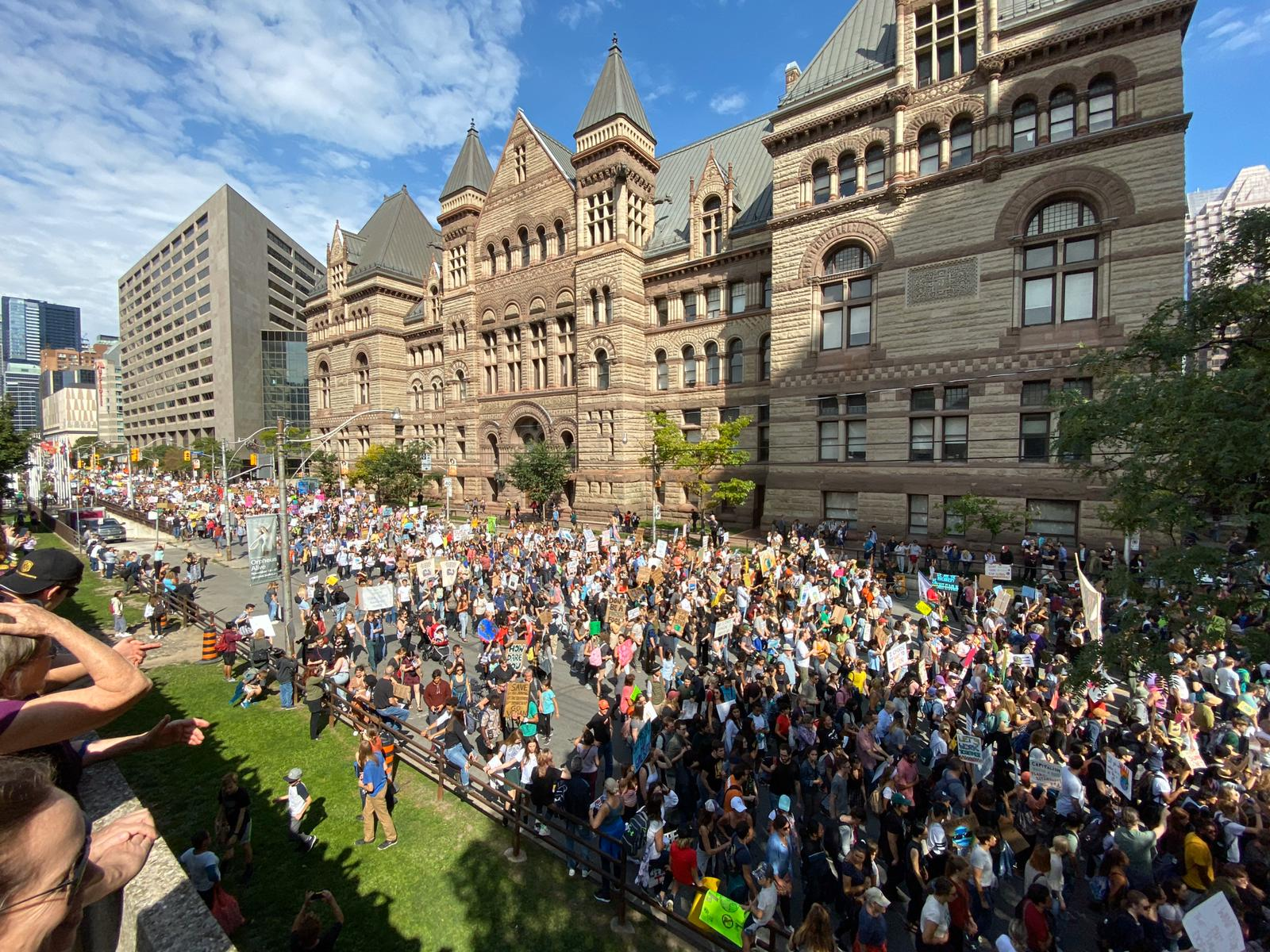 Thousands of Torontonians joined the youth-led Global Climate Strike on September 27th, calling for urgent climate action. Pictured here at Queens Park.