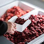 Frozen Fruit Refill Station. © Isabelle Rose Povey / Greenpeace