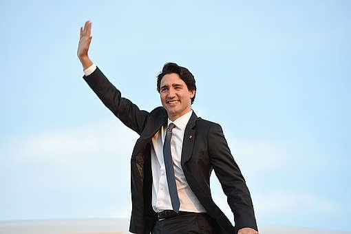 Cérémonie de départ du Premier ministre canadien
