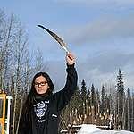 Eve Saint, daughter of Wet'suwet'en hereditary chief Woos,