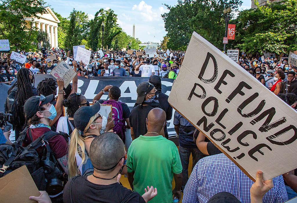 Black Lives Matter Protest in Washington DC. © Tim Aubry / Greenpeace