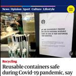 Plus de 120 experts en santé soutiennent que l'usage de contenants réutilisables est sécuritaire en temps de COVID-19