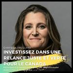Les promesses ne suffisent pas. Dites  à Freeland et Trudeau d'investir dans une relance juste et verte!
