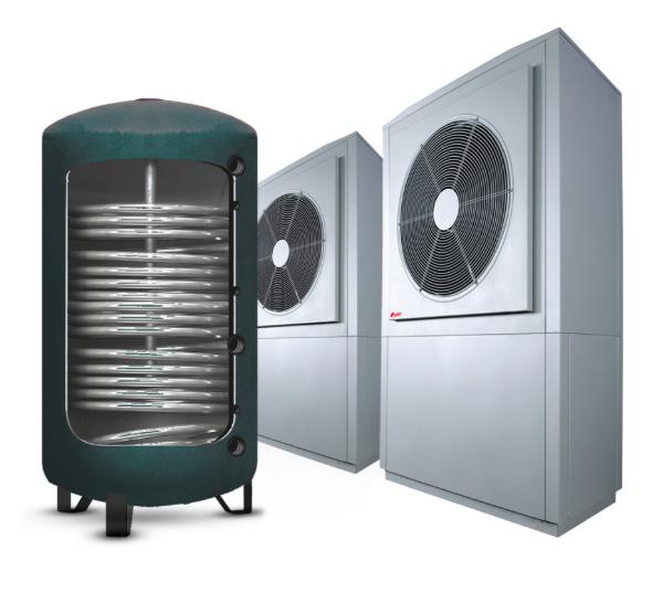Communal hot water heat pump