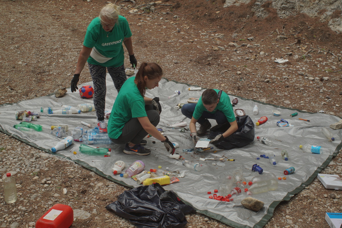 Plastic Rubbish Collected on the Island Mljet in Croatia. © Hrvoje Šimic / Greenpeace