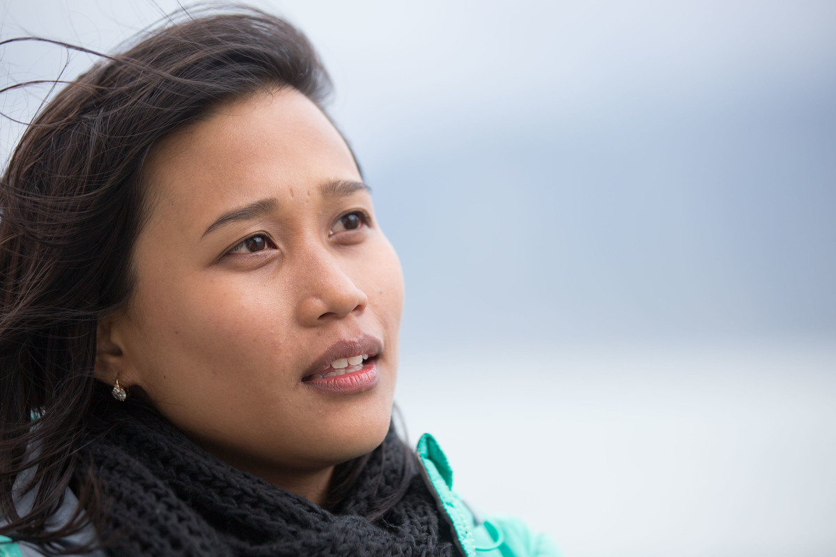Joanna Sustento, Activist from the Philippines. © Nick Cobbing