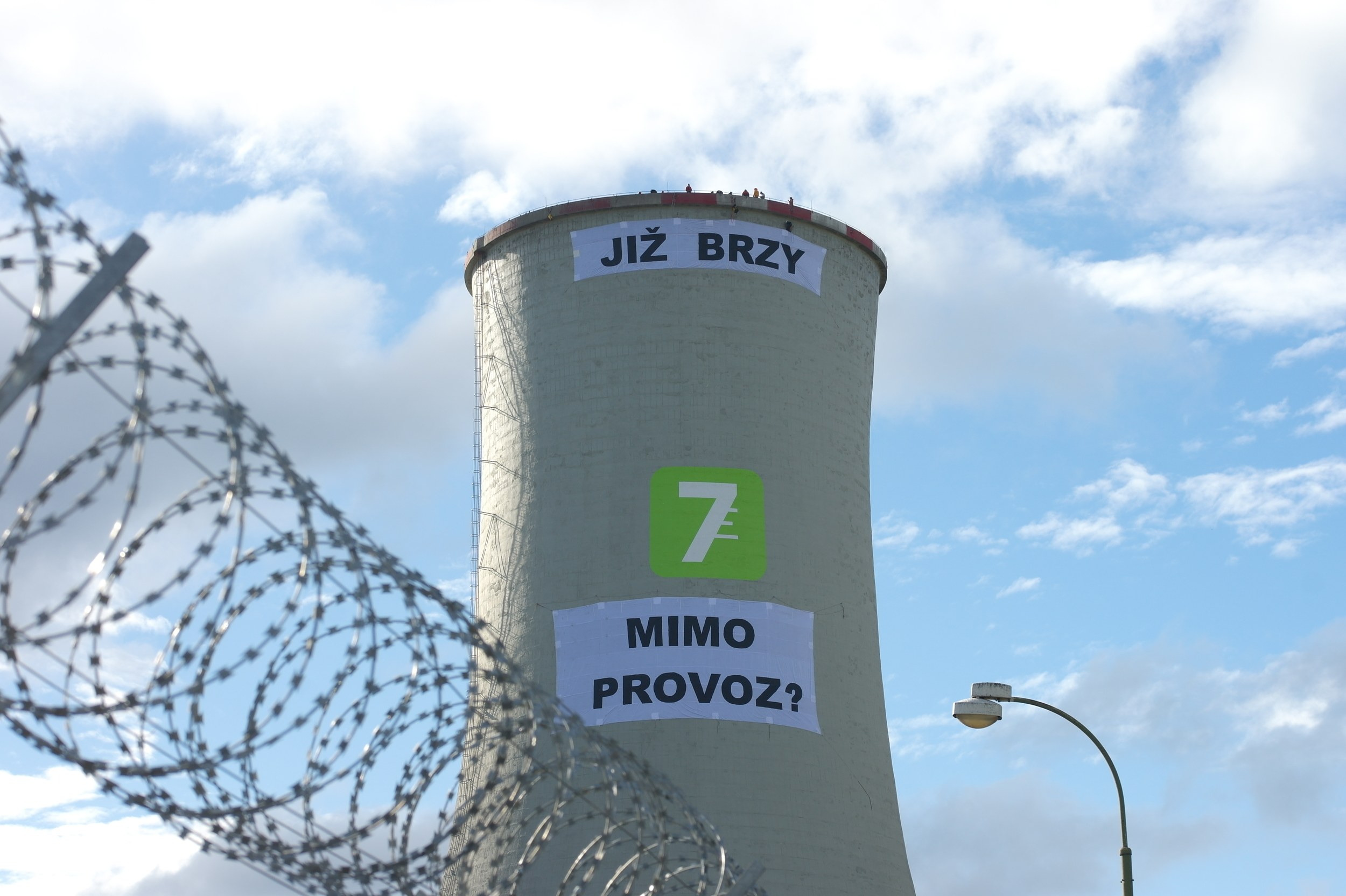 Chvaletice Power Plant Occupation in Czech Republic