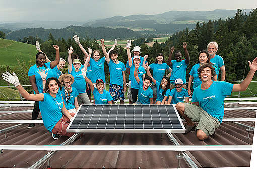 Solar System Installation in Switzerland. © Nicolas Fojtu