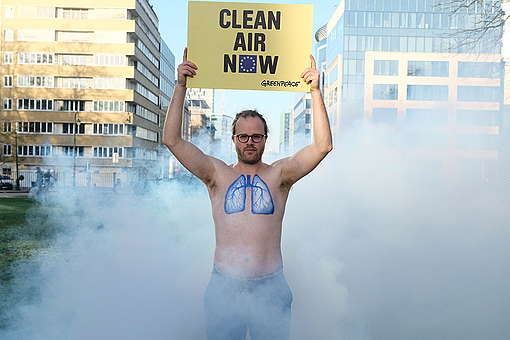 Clean Air Action in Brussels. © Tim Dirven