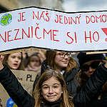 Studenti a studentky stávkovali za klima. Staví se za naši společnou budoucnost.
