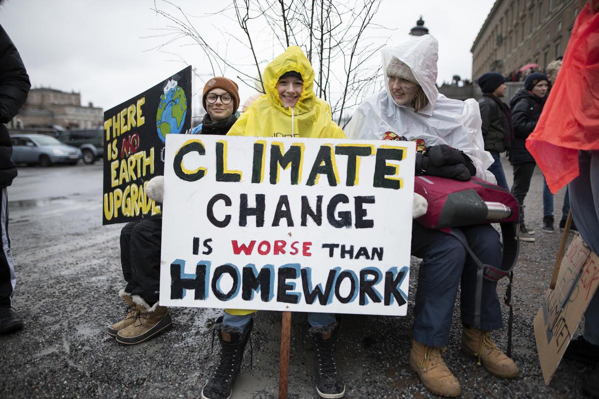 Fridays for Future Student Demonstration in Stockholm. © Christian Åslund / Greenpeace