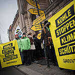 Demonstration at Coal Commission Meeting in Berlin. © Ruben Neugebauer / Greenpeace