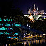 Climate action Projection in Prague. © Greenpeace / Pavel Horejsi