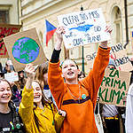 Fridays for Future Student Demonstration in Prague. © Petr Zewlakk Vrabec / Greenpeace