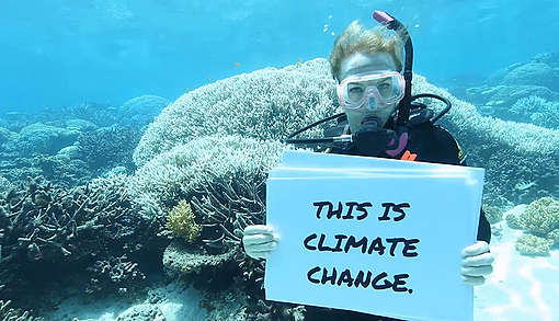 Great Barrier Reef Mass Coral Bleaching Event. © Dean Miller / Greenpeace
