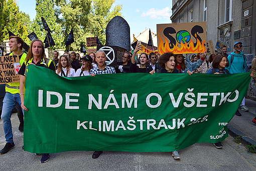 Global Climate Strike in Bratislava. © Hana Fabry / Greenpeace