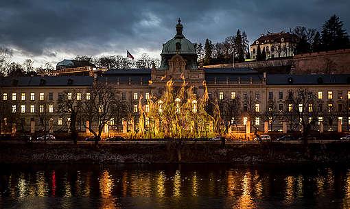 Climate Crisis Projection Action in Czech Republic. © Petr Zewlakk Vrabec / Greenpeace