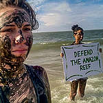 Defend the Amazon Reef Protest (Global Day of Action) in Maranhão, Brazil. © Cynthia Carvalho